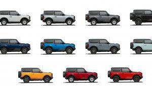 6th Gen Bronco Color Options